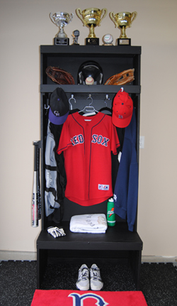 Wood baseball lockers